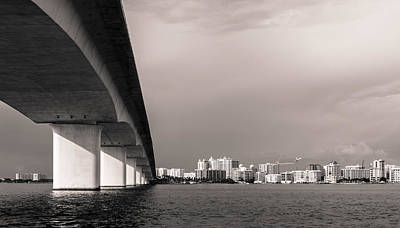 Florida Bridge Photograph - Ringling Bridge by Clay Townsend