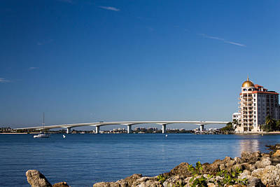 Photograph - Ringling Bridge, Sarasota, Fl by Michael Tesar