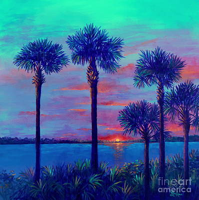 Painting - Ringling Bridge Sunset by Lou Ann Bagnall