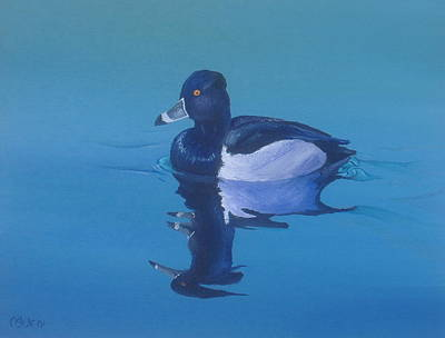 Michael Allen Painting - Ringneck-a Study Of Reflections by Michael Allen