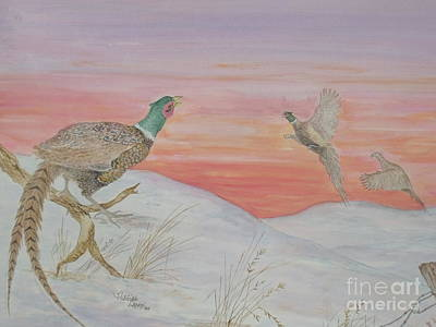 Painting - Ringnecks At Sunrise by Patti Lennox