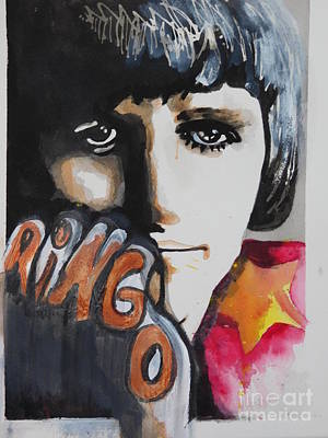 Painting - Ringo Starr 05 by Chrisann Ellis