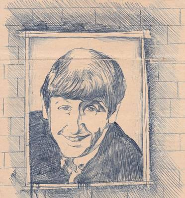 George Harrison Art Drawing - Ringo Starr 1963 by Irakli Jorjadze