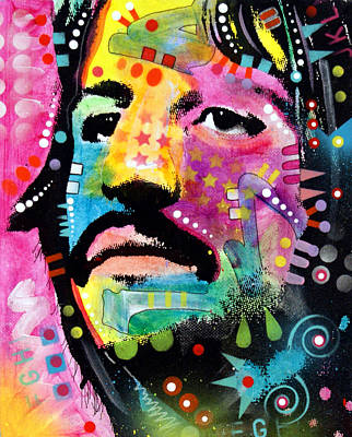 Acrylic Pop Art Painting - Ringo Starr by Dean Russo