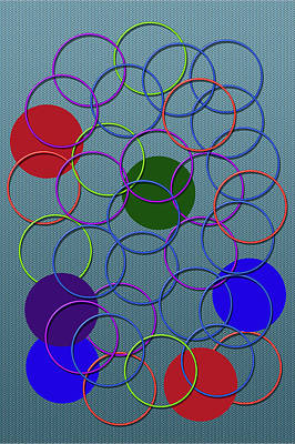 Rings Of Color 2 Of 2 Print by Tina M Wenger