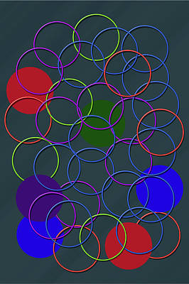 Rings Of Colors Print by Tina M Wenger