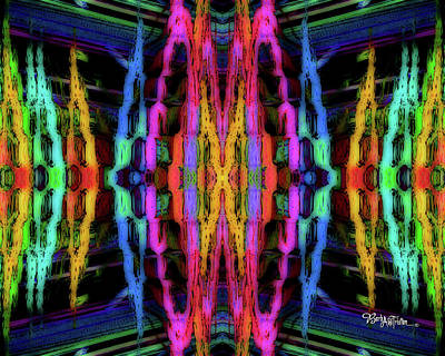 Photograph - Rings Of Fire Dopamine #158 by Barbara Tristan
