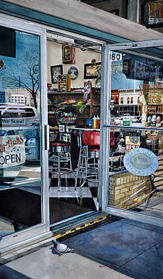 Shop Window Painting - Rinky Tinks by Robert W Cook