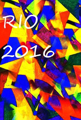 Heroes Painting - Rio 2016 Olympics Poster  by Enki Art