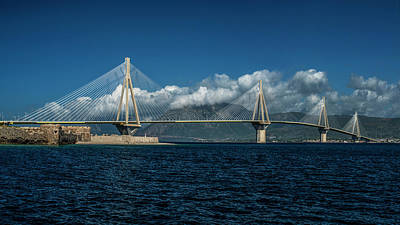 Photograph - Rio-andirio Bridge On A Cloudy Day by Jaroslaw Blaminsky