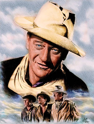 Drawing - Rio Bravo Colour Ver by Andrew Read