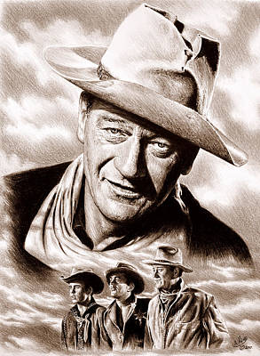 Drawing - Rio Bravo Sepia by Andrew Read