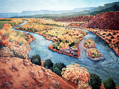 Rio Chama At Abiquiu Print by Donna Clair