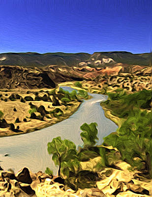 Painting - Rio Chama River by Lou  Novick