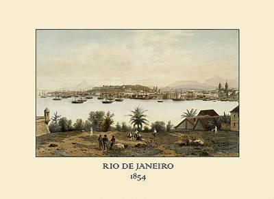 Photograph - Rio De Janeiro 1854 by Andrew Fare