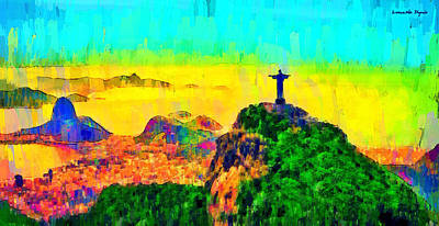 Cross Digital Art - Rio De Janeiro Panoramic 3 - Da by Leonardo Digenio