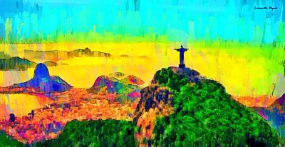 Saint Painting - Rio De Janeiro Panoramic 3 - Pa by Leonardo Digenio