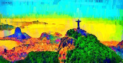 Rio Painting - Rio De Janeiro Panoramic 4 - Da by Leonardo Digenio