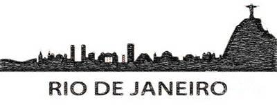 Digital Art - Rio De Janeiro Silouhette Sketch  by Rafael Salazar