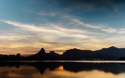 Photograph - Rio De Janeiro Skyline Silhouette by Alexandre Rotenberg