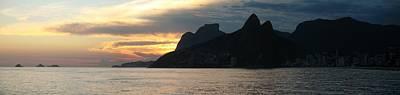 Rio De Janeiro Sunset Panorama Original by Maria Adelaide Silva