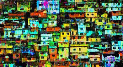 Rio Favela 2 - Pa Art Print
