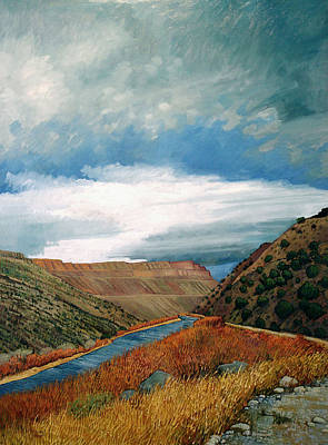 Grande Painting - Rio Grande At Pilar by Donna Clair