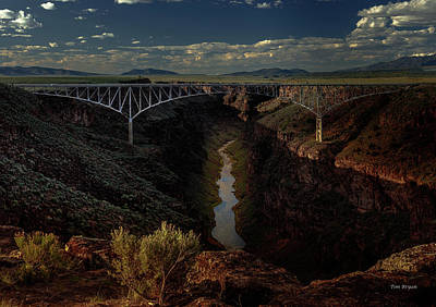 Photograph - Rio Grande Bridge- Taos Nm by Tim Bryan
