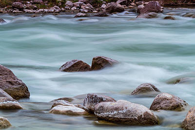Photograph - Rio Grande Flow Through Stones by SR Green