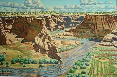 Painting - Canyon De Chelly  by Allen Kerns