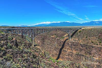 Photograph - Rio Grande Gorge Bridge by Charles Dobbs