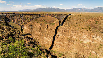 Photograph - Rio Grande Gorge Bridge Taos New Mexico by Lawrence S Richardson Jr