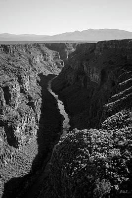 Photograph - Rio Grande Gorge I Bw by David Gordon
