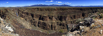 Photograph - Rio Grande Gorge Near Taos by Robert Woodward