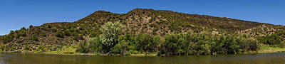 Photograph - Rio Grande Panorama Pilar New Mexico by Lawrence S Richardson Jr