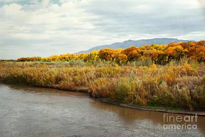 Photograph - Rio Grande River Autumn Countryside by Andrea Hazel Ihlefeld