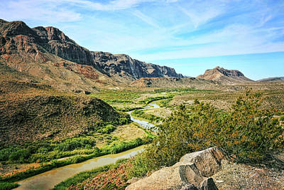 Photograph - Rio Grande River Bright Summer Day by Judy Vincent