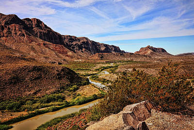 Photograph - Rio Grande River Fall Afternoon by Judy Vincent
