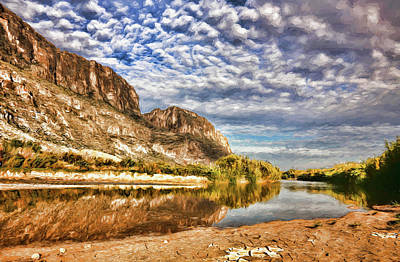 Photograph - Rio Grande River Oil Painting by Judy Vincent