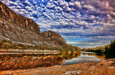 Photograph - Rio Grande River Painted by Judy Vincent