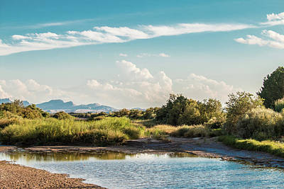 Elpaso Photograph - Rio Grande River by Subhadra Burugula