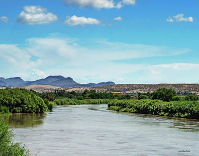 Photograph - Rio Grande Runs Full by Allen Sheffield
