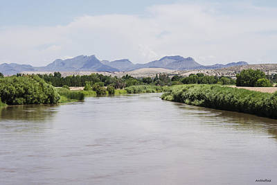 Photograph - Rio Grande Runs Full In El Paso by Allen Sheffield