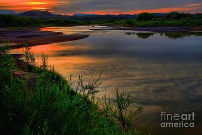 Photograph - Rio Grande Sunrise by Adam Jewell