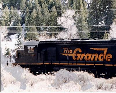 Photograph - Rio Grande Train In Colorado by Natalee Parochka