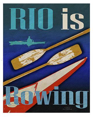 Peddle Digital Art - Rio Is Rowing by Joost Hogervorst