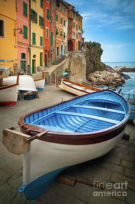 Cinque Terre Photograph - Rio Maggiore Boat by Inge Johnsson