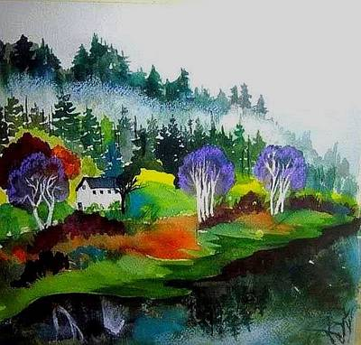 Painting - Monte Rio Russian River by Esther Woods