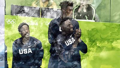 Dream Team Painting - Rio Olympic 12 by Jani Heinonen