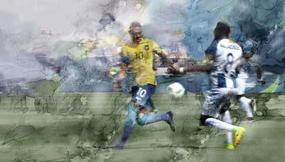 Soccer Painting - Rio Olympic 70 by Jani Heinonen